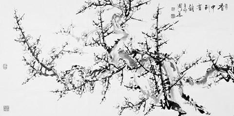 梅(中国画) 周华