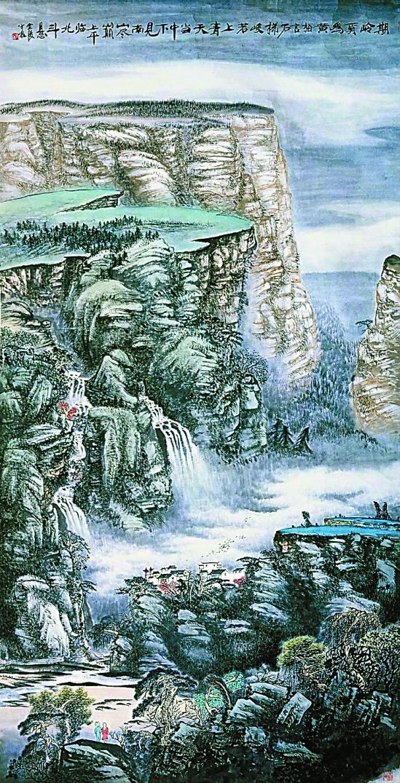 美丽秦淮的风景人物画