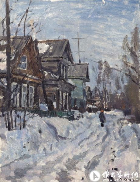 大师风景油画雪景