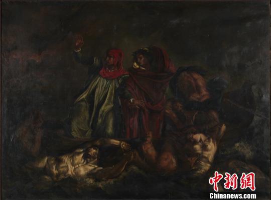 刘海粟旅法期间临摹的油画《但丁之舟》。官方供图