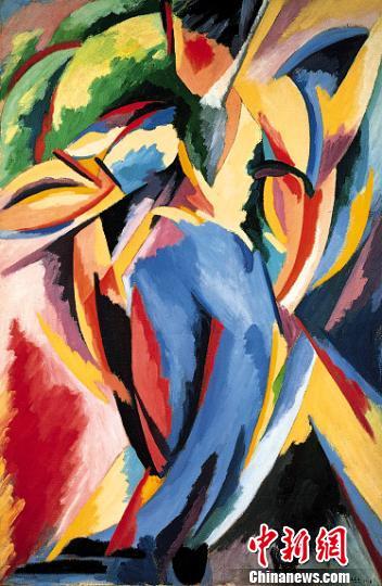 阿尔贝托·马涅利(意大利)《抒情爆炸第19号》。(成都博物馆供图) 钟欣 摄