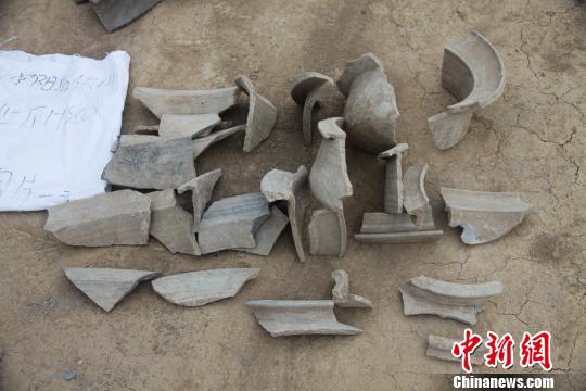 后伏山遗址出土的战国器物。济南市考古研究所供图