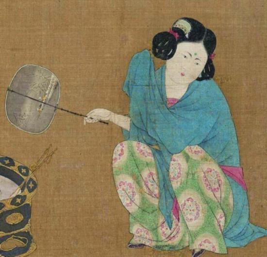 古代女性额头上的花纹