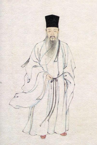 松江《邦彦画像》中的钱福