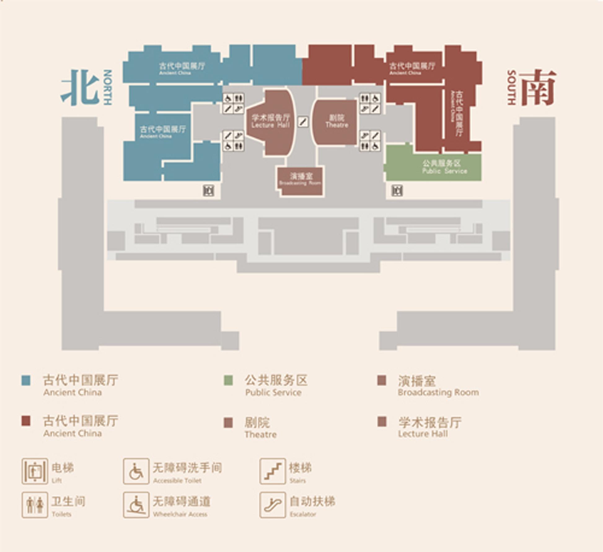 国家博物馆各层平面图