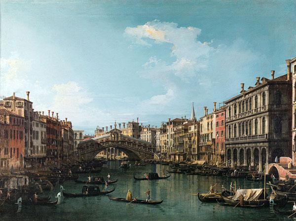 圣马可广场风景 卡纳莱托(威尼斯人,生于1697年,卒于1768年) 布面