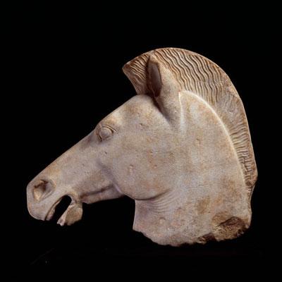大理石雕像残件:马头