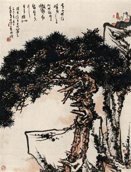 黄山松图轴(国画)
